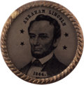Political:Ferrotypes / Photo Badges (pre-1896), Abraham Lincoln: Pristine Dated Ferrotype....