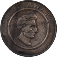 Abraham Lincoln: Highly Desirable Wide Awake Hat Badge