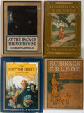 Books:Color-Plate Books, [Illustrated Literature]. Group of Four Later Edition Books. Various publishers. Publisher's binding. Robinson Crusoe in mo... (Total: 4 Items)
