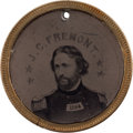 Political:Ferrotypes / Photo Badges (pre-1896), Fremont & Cochrane: Back-to-Back Ferrotype Badge....