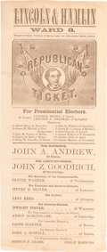 Political:Small Paper (pre-1896), Abraham Lincoln: Oversized and Graphic 1860 Ballot....