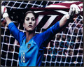 Miscellaneous Collectibles:General, Hope Solo Signed Soccer Ball and Oversized Photograph....