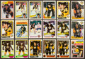 Hockey Cards:Lots, 1980's Ray Bourque & Mario Lemieux Card Collection (18) WithRCs Autographed. ...