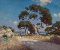 JULIAN ONDERDONK (American, 1882-1922) On the Old Blanco Road, Southwest Texas, 1911 Oil on canvas