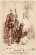 Photography:Cabinet Photos, Cabinet Card: Photograph of Sergeant Bates and Julie Nelson....
