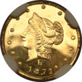 California Fractional Gold, 1871 50C Liberty Round 50 Cents, BG-1029, High R.4, MS65 DeepProoflike NGC....