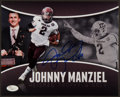 Football Collectibles:Photos, Johnny Manziel Signed Photograph. ...
