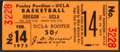 Basketball Collectibles:Others, 1975 UCLA Bruins Full Ticket from John Wooden's Final Season....