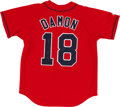 Baseball Collectibles:Uniforms, Johnny Damon Signed Boston Red Sox Jersey....
