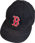 Baseball Collectibles:Hats, Boston Red Sox Game Worn Cap, Attributed to David Wells....