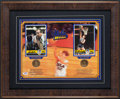Basketball Collectibles:Photos, Bill Walton and John Wooden Multi Signed Display. ...