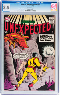 Tales of the Unexpected #52 (DC, 1960) CGC VF+ 8.5 Off-white pages