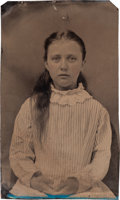Photography:Tintypes, Pearl Starr (Younger): Another Tintype Photo of Bell Starr's Daughter....