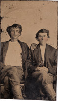 Photography:Tintypes, Tintype Photo of Two Young Men. ...