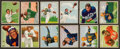 Football Cards:Sets, 1950 Bowman Football Partial Set (50/144) With Stars. ...
