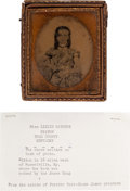Photography:Ambrotypes, James Brothers: Cased Ambrotype of Miss Lizzie Wathers, Elkton,Todd County, Kentucky....