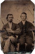 Photography:Tintypes, George Todd: A Tintype Image Believed to be This Important Quantrill Captain....