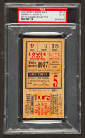 Baseball Collectibles:Tickets, 1937 World Series Game 5 Ticket Stub, PSA VG-EX 4 - Final andDeciding Game, Yankees Champs....