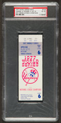 Baseball Collectibles:Tickets, 1977 Reggie Jackson World Series Game 6 Ticket Stub PSA VG-EX 4 -Historic 3 Home Run Game! ...