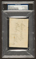 Baseball Collectibles:Others, Babe Ruth Signed Cut Signature....