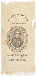 Political:Ribbons & Badges, William Henry Harrison: Connecticut Ribbon....