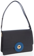 Luxury Accessories:Bags, Louis Vuitton Black Epi Leather Friedland Bag with Blue LeatherAccent. ...
