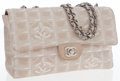 Luxury Accessories:Bags, Chanel Beige Microfiber Classic Single Flap Bag with Muted SilverHardware. ...