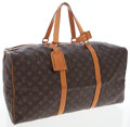 Luxury Accessories:Bags, Louis Vuitton Classic Monogram Canvas Square Keepall 55cm WeekenderBag. ...