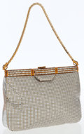 Luxury Accessories:Bags, Judith Leiber Full Bead Crystal Deco Clutch with Shoulder Chain....