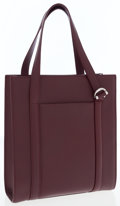 Luxury Accessories:Bags, Cartier Burgundy Leather Shopping Tote Bag. ...