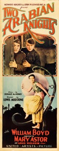"""Movie Posters:Comedy, Two Arabian Knights (United Artists, 1927). Insert (14"""" X 36"""")....."""