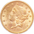 Liberty Double Eagles, 1873-S $20 Closed 3 MS61 PCGS. CAC....