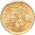 Gold Dollars, 1883 G$1 MS66+ PCGS. CAC....