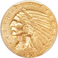 Indian Half Eagles, 1916-S $5 MS62 PCGS. CAC....