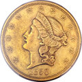 Liberty Double Eagles, 1850 $20 XF45 PCGS....