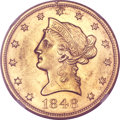 Liberty Eagles, 1848 $10 MS60 NGC....