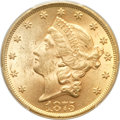 Liberty Double Eagles, 1875 $20 MS62 PCGS. CAC....