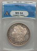Morgan Dollars, 1882-O $1 MS64 Cameo Deep Mirror Prooflike ANACS....