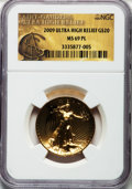 Modern Bullion Coins, 2009 $20 One-Ounce Gold Ultra High Relief Twenty Dollar MS69Prooflike NGC....