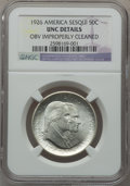 Commemorative Silver: , 1926 50C Sesquicentennial -- Obverse Improperly Cleaned -- NGCDetails. UNC. NGC Census: (12/4045). PCGS Population (24/443...