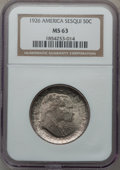 Commemorative Silver: , 1926 50C Sesquicentennial MS63 NGC. NGC Census: (1307/2070). PCGSPopulation (1490/2345). Mintage: 141,120. Numismedia Wsl....