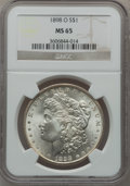 Morgan Dollars: , 1898-O $1 MS65 NGC. NGC Census: (12181/2036). PCGS Population(11138/2028). Mintage: 4,440,000. Numismedia Wsl. Price for p...