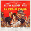 "Movie Posters:Adventure, 55 Days at Peking (Allied Artists, 1963). Six Sheet (79.5"" X 79"").Adventure.. ..."
