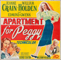 "Movie Posters:Drama, Apartment for Peggy (20th Century Fox, 1949). Six Sheet (77.5"" X 79.5""). Drama.. ..."