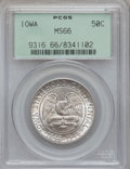 Commemorative Silver: , 1946 50C Iowa MS66 PCGS. PCGS Population (2621/824). NGC Census:(2310/753). Mintage: 100,057. Numismedia Wsl. Price for pr...