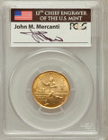 Modern Issues, 1995-W G$5 Olympic/Torch Runner Gold Five Dollar MS69 PCGS. Ex:Signature of John M. Mercanti, 12th Chief Engraver of the U...