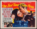 "Movie Posters:Romance, The Last Time I Saw Paris (MGM, 1954). Half Sheet (22"" X 28"") Style B. Romance.. ..."