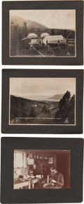 Western Expansion:Goldrush, Atlin, British Columbia: Seven Large Mounted Photos of McKeeConsolidated Mining Operations in 1906.... (Total: 9 Items)