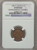 Lincoln Cents: , 1909-S 1C -- Environmental Damage -- NGC Details. XF. NGC Census:(113/492). PCGS Population (216/742). Mintage: 1,825,000....