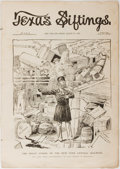 Books:Art & Architecture, [Americana]. Texas Siftings. Vol. 13. No. 18. Texas Siftings Pub., 1890. 16 pages. Somewhat tattered with abradi...